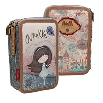 Estuche Escolar ANEKKE Liberty, Triple Cremallera: Amazon.es ...
