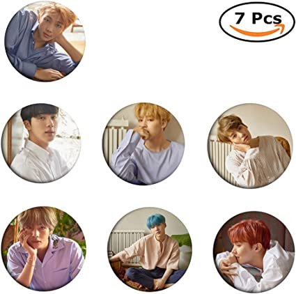 loheag clinor 7 Pack BTS Broche Pin   BTS bangtan Boys Members Fan ...