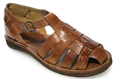 Men/'s New Leather Soft Woven Handmade Sandals Flip Flop Slip Huaraches Brown