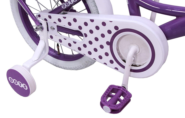 amiGO Dots mit R/ücktritt und St/ützr/äder Kinderfahrrad M/ädchen ab 3 Jahre 14 Zoll Violett