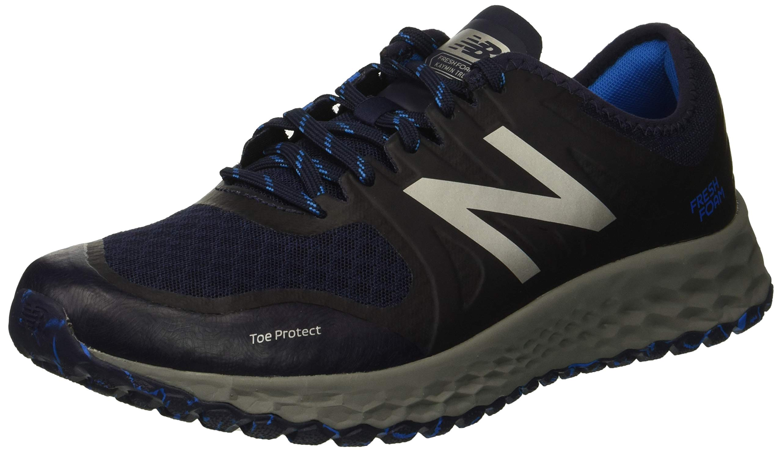 New Balance Men's Kaymin V1 Fresh Foam Trail Running Shoe Pigment/Laser Blue 13 D US