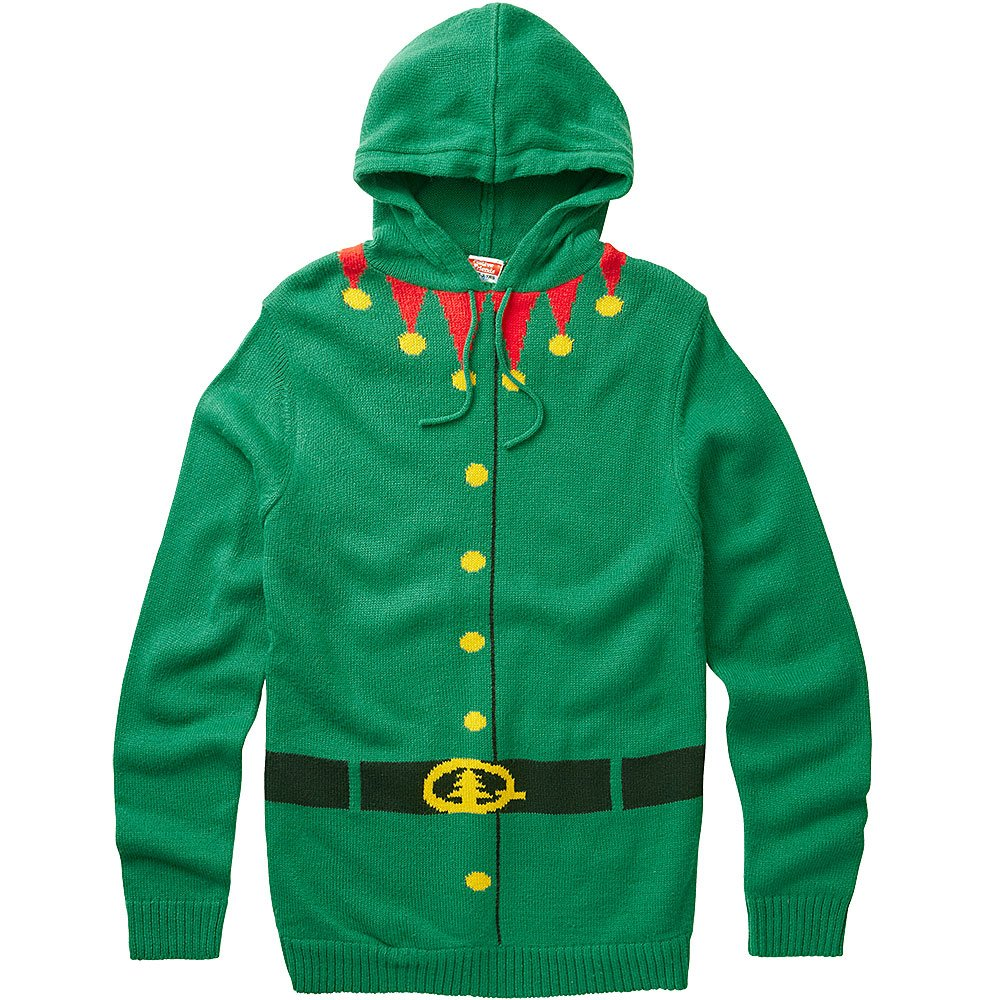 Halloween & Christmas Kidswear Boys Santa's Little Helper Elf Character Christmas Novelty Knitted Jumper