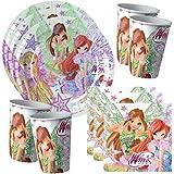 Winx Club - Butterflix - Set Party Decorations - Plates - Cups - Napkins