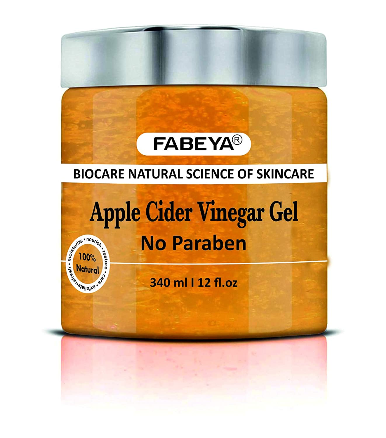ORGANIC NATURAL APPLE CIDER VINEGAR FABEYA BIOCARE GEL - NO PARABENS AND SULPHATES 340 ML