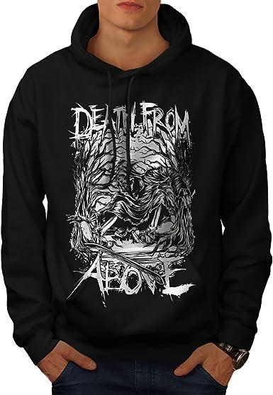 Death Hooded Sweatshirt wellcoda Grim Reaper Cool Mens Hoodie