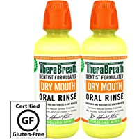 TheraBreath Dry Mouth Oral Rinse, 16 Ounce Bottle (Pack of 2)