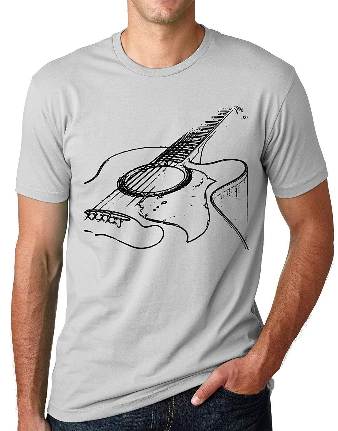 Think Out Loud Apparel Acoustic Guitar Shirt Cool Musician Tee T Shirt