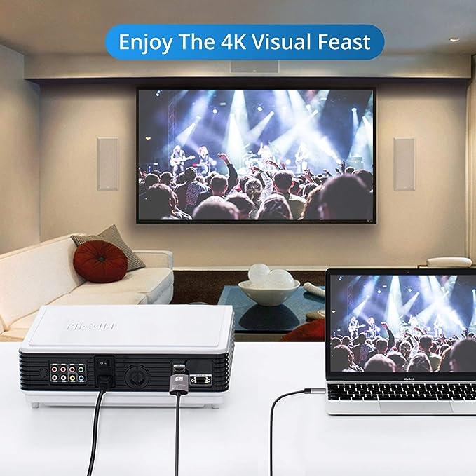 CAMWAY - Cable adaptador de USB C a HDMI 4K, USB tipo C a HDMI TV HDTV, compatible con Thunderbolt 3, para iPad Pro, MacBook Pro, HUAWEI, Samsung, Dell XPS, Pixelbook, etc.: