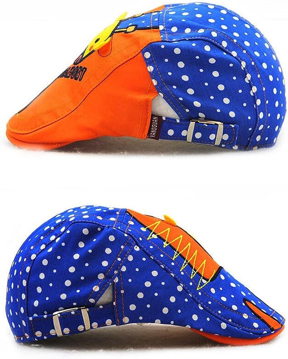 Roffatide Childs Giraffe Pattern Newsboy Cap Boys Cotton Sun Hat Girls Summer Ivy Irish Gatsby Cabbie Peaked Cap Kids