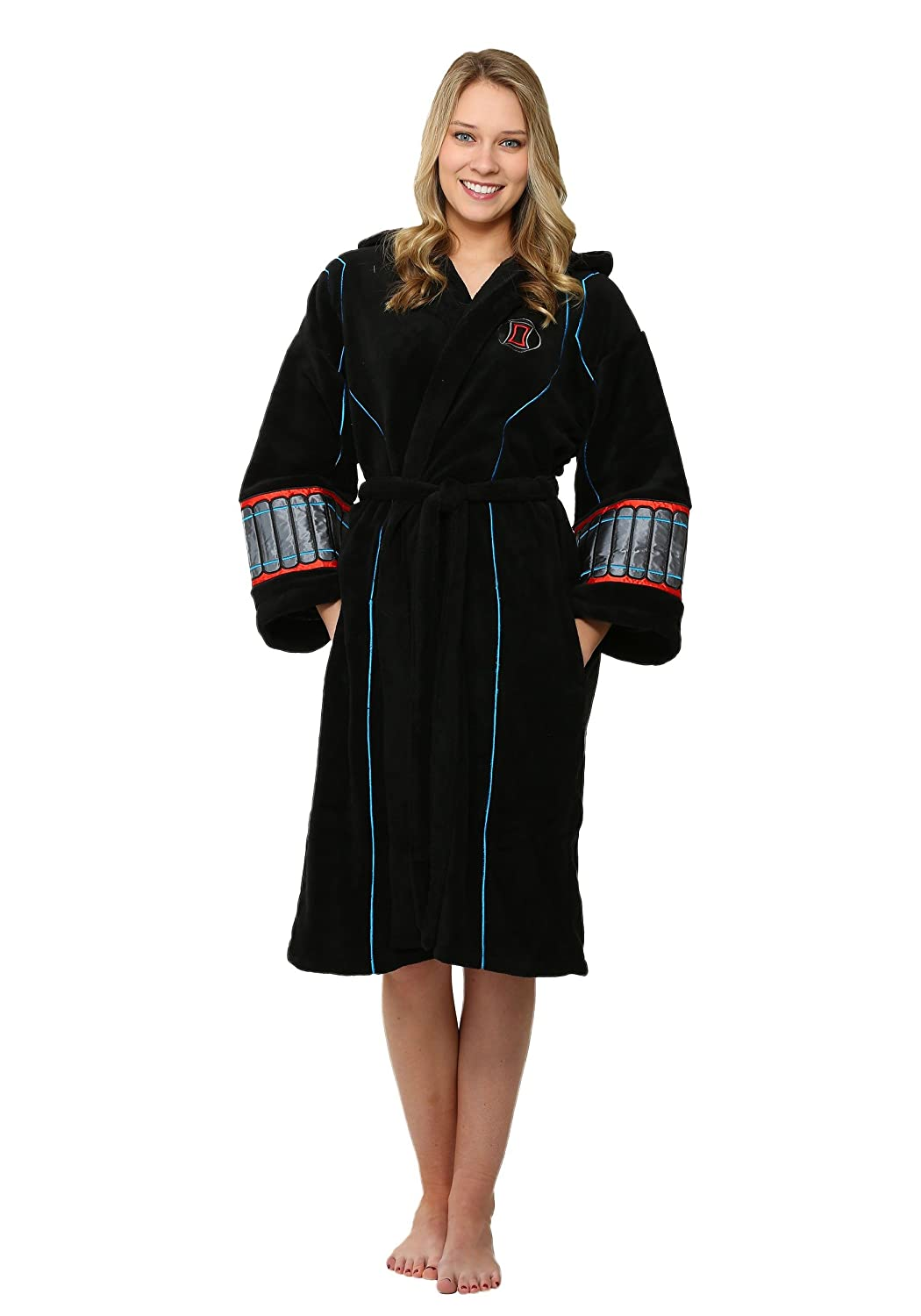 Marvel Women's Black Widow Bathrobe 12010-Blk