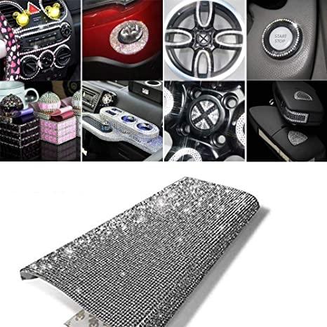 AB DIY Bling Crystal Rhinestone car Cellphone Mobile Decoration Sticker gems Scrapbooking Embellishments