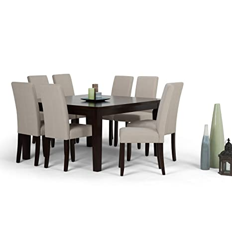 Superb Amazon Com Wynden Hall Normandy Contemporary 9 Pc Dining Squirreltailoven Fun Painted Chair Ideas Images Squirreltailovenorg