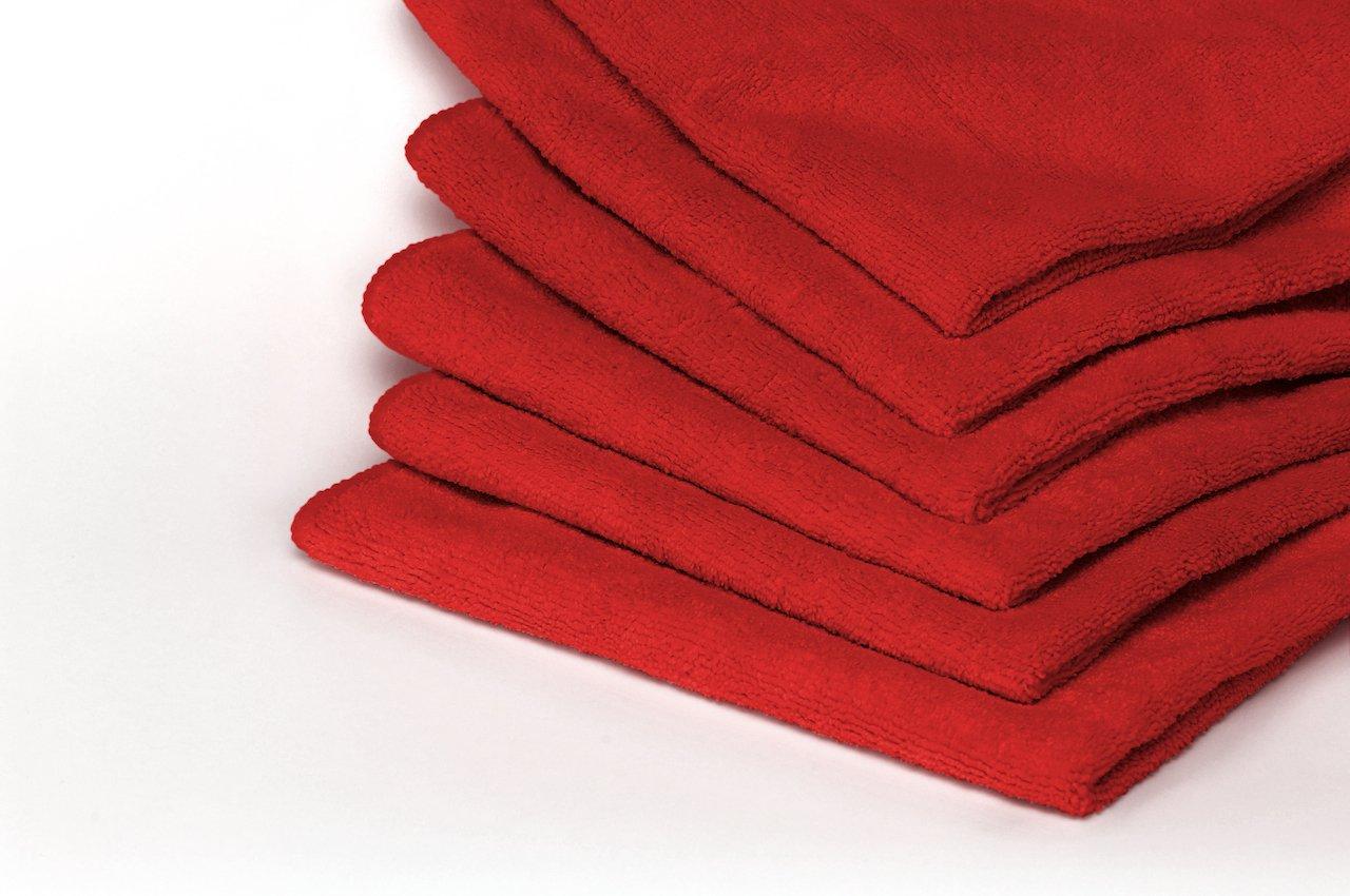 Heininger 5410 GarageMate Red Microfiber Towel, (Pack of 10)