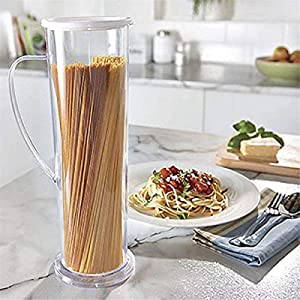 Pasta Express Fast Easy Cooker Noodles Spaghetti Maker Cook Tube Container,Tall Clear Spaghetti Pasta Container Storage,Food Pasta Containers for Pantry