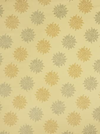 Amazon Com Mica Metallic Gold Yellow Print Pattern Medallion Prints