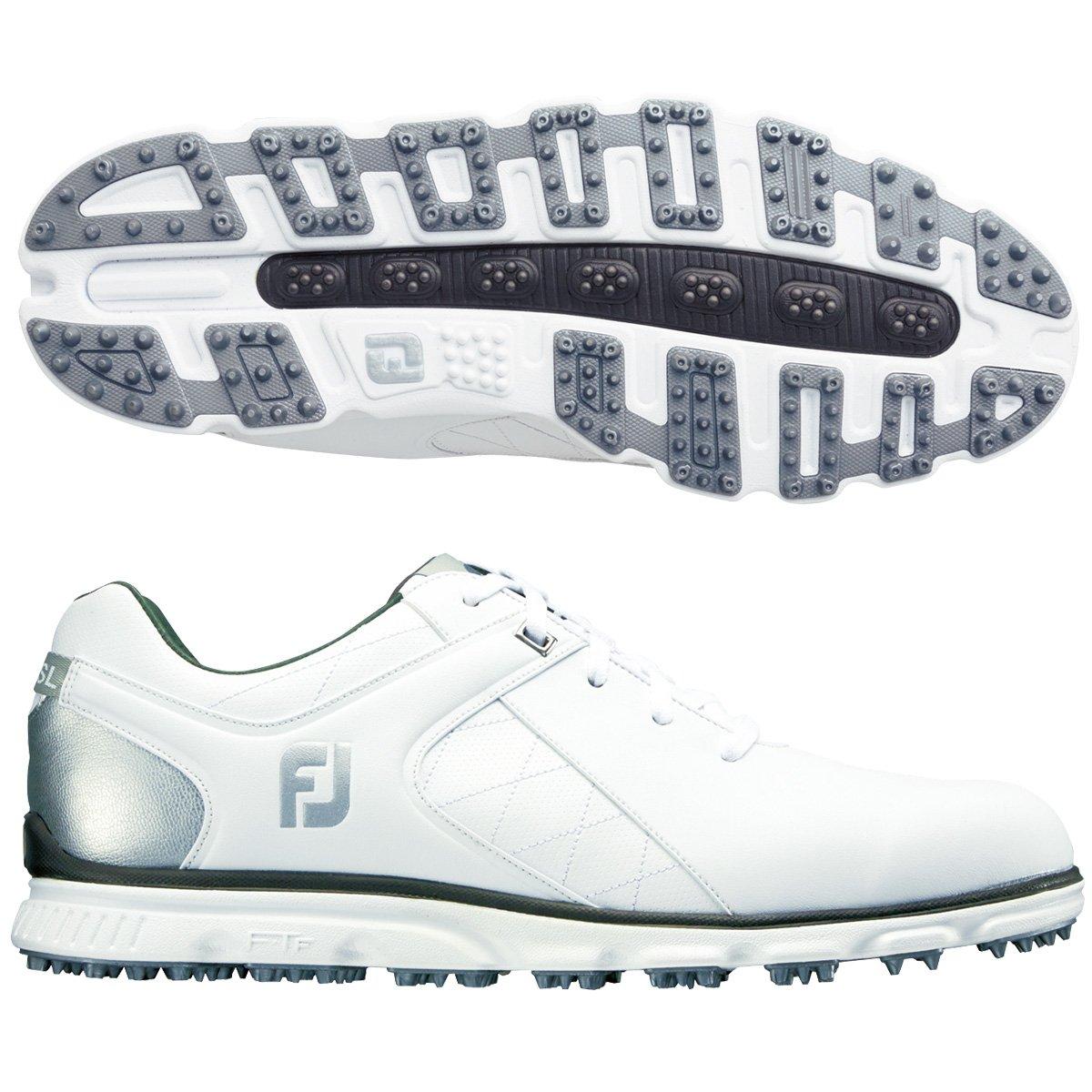 FootJoy Men's Pro/SL Golf Shoes B01JJ62V8O 14 M US|White/Silver