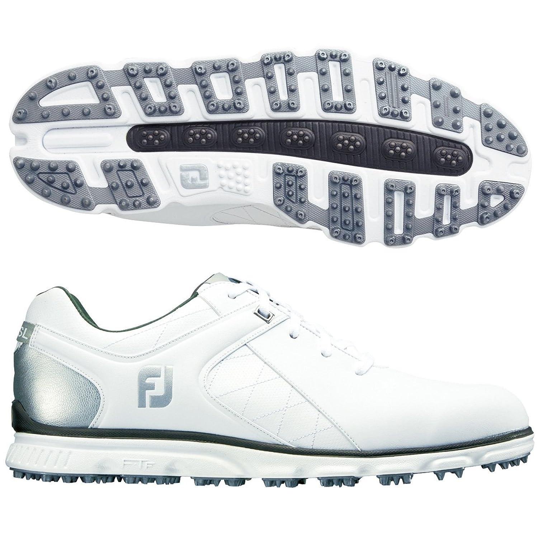 FootJoy(フットジョイ) メンズ 男性用 シューズ 靴 スニーカー 運動靴 Pro SL - White/Silver [並行輸入品] B07BMJZ1QJ 9 W