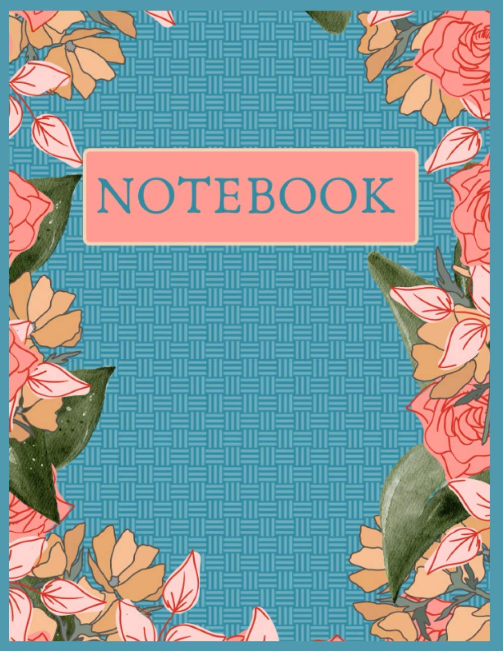 NOTEBOOK Blue Floral 8.5x11: Floral Notebook