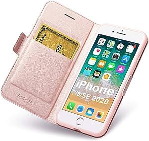 Aunote iPhone SE2 Case, iPhone 7 Case Wallet, iPhone 8 Leather Case, iPhone 7 Flip Case, iPhone 8 Folio Case, iPhone8 Case Card Holder, iPhone7 Phone Cases, Apple 4.7