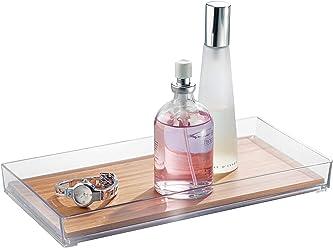 InterDesign Kane Waschtisch-Ablage Handtuchhalter-Wei/ß Kosmetik-Organizer
