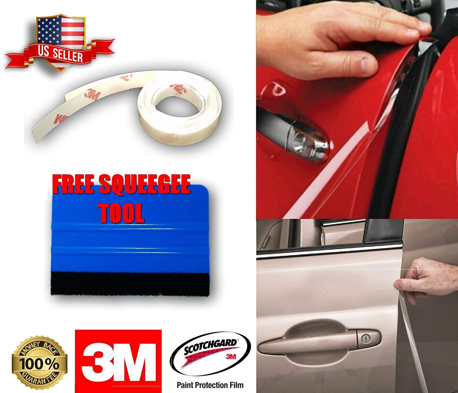 2 Door Edge Guard Scratch 3M Scotchgard Protection Film Clear Invisible Universal Car Truck REPACKAGE