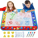 Alago Water Doodle Mat,Kids Toys Large Aqua Mat,Toddlers Painting Coloring Pad with 4 Colors,Gifts for Girls Boys Age 2 3 4 5