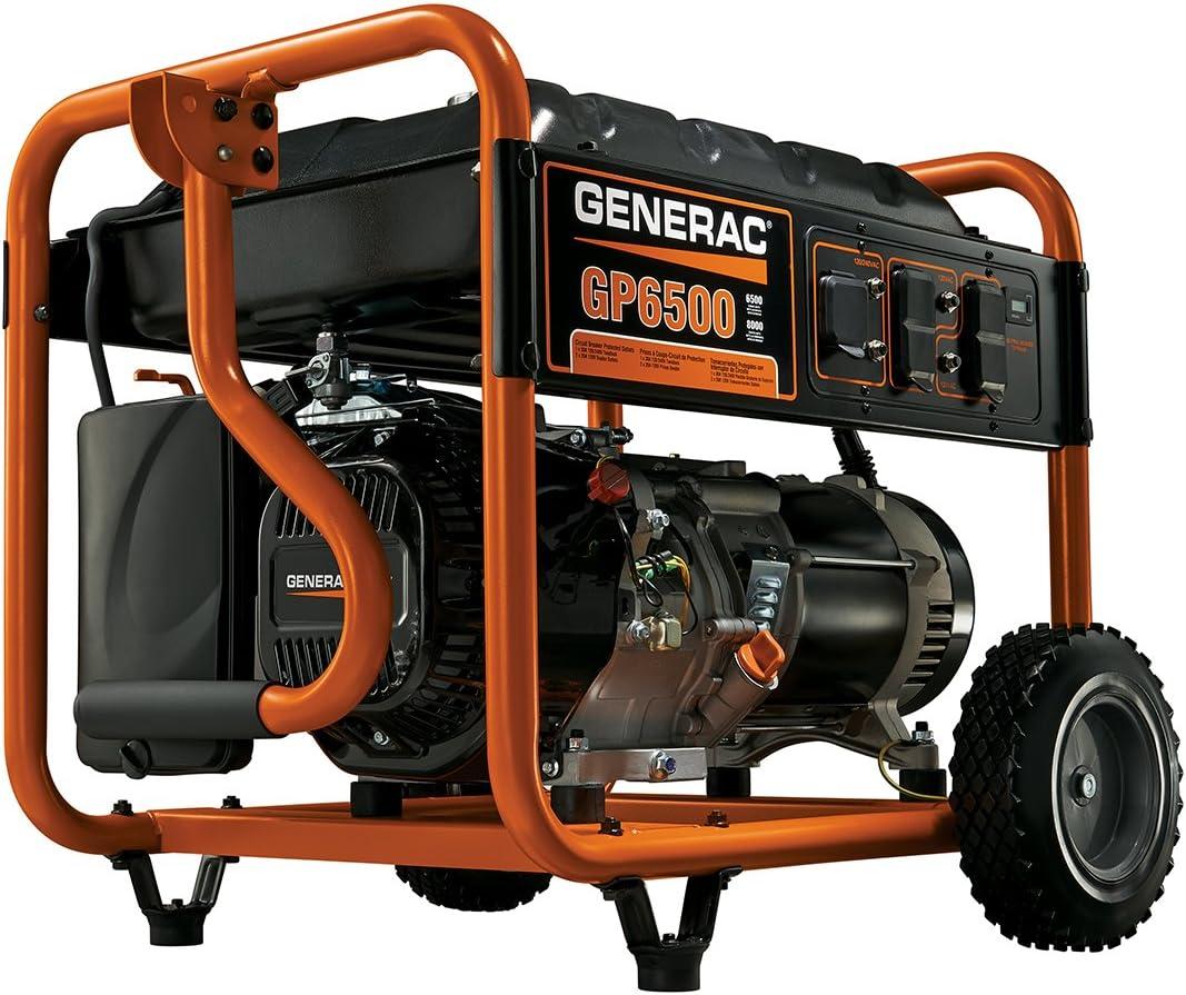 B004BLJH3A Generac 5940 GP6500 6500 Running Watts/8000 Starting Watts Gas Powered Portable Generator 713dpyvYl7L