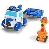 Dickie Toys - Helden der Stadt, Andy Abschleppwagen Spielset, Das Abschleppauto mit Licht, originalen Liedern, Sounds und Freilauffunktion, inkl. Sammelkarte mit Geheimcode