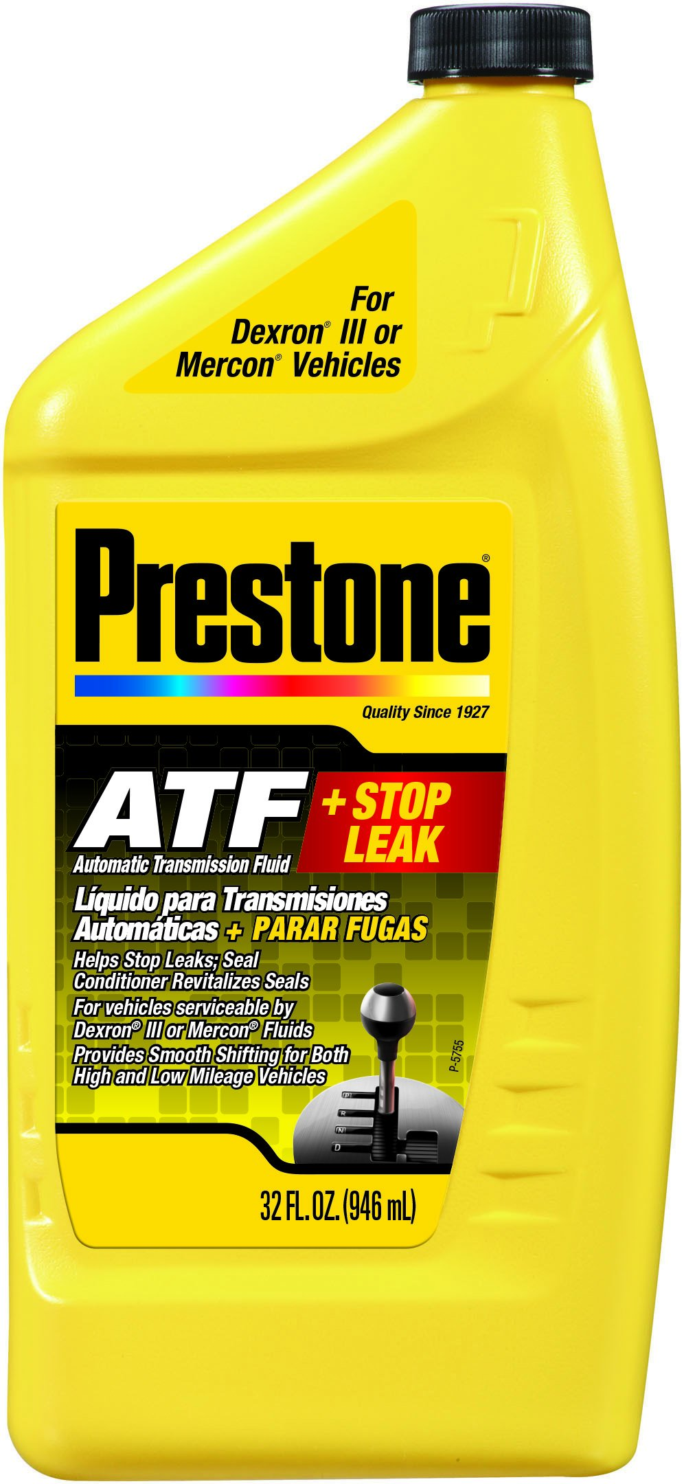 Prestone AS272-6PK Multi-Vehicle Automatic Transmission Fluid with Stop Leak - 32 oz, (Pack of 6)