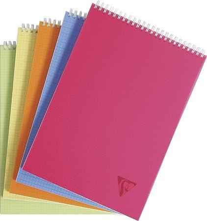 Clairefontaine 22903203 - Libreta escolar cuadriculada (espiral en la parte superior, A4, 80 hojas), 1 unidad, colores surtidos: Amazon.es: Oficina y papelería