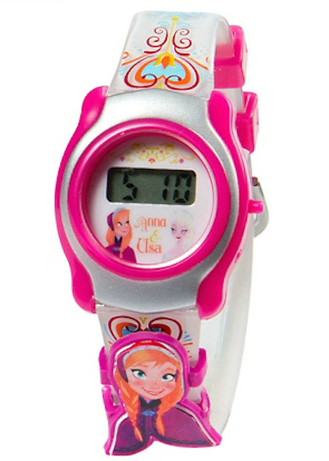 Disney Frozen with Slide-On Characters LCD Watch