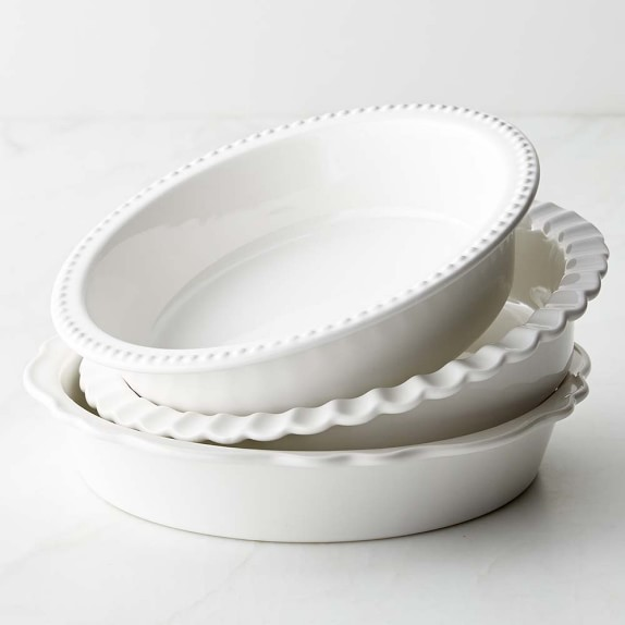 Williams-Sonoma Stoneware Pie Dish, Set of 3 | Williams-Sonoma