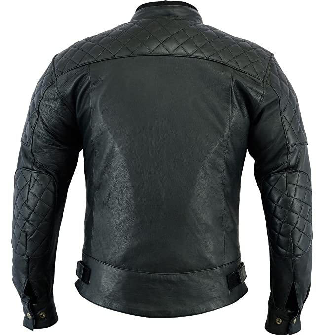 Bikers Gear Australia Limited Baron Diamond - Chaqueta para motocicleta (piel suave, talla XL), color negro