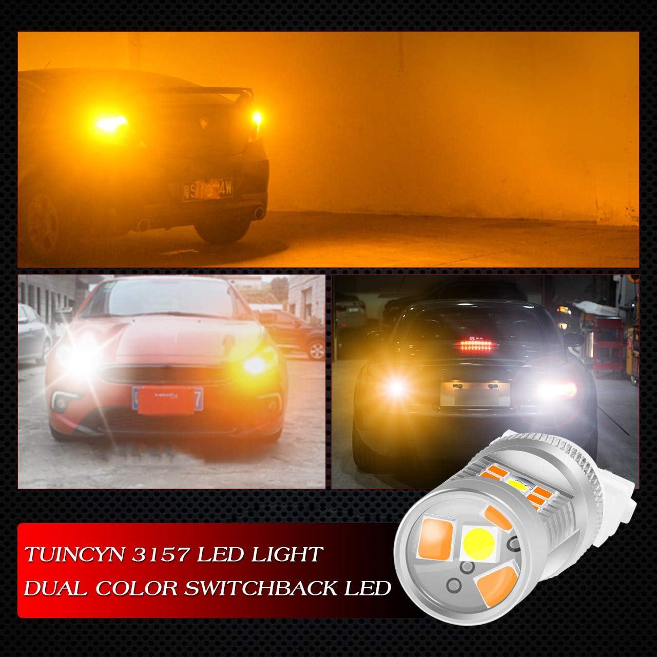 arri/ères 3057A Ampoule /à LED Tuincyn feux de recul ambre 3057 3157 clignotants 3157A 3155 10 ampoules 3047