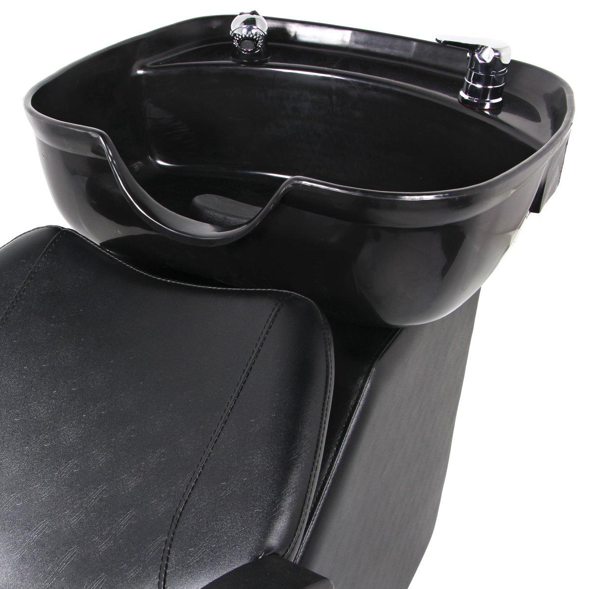 Esright Salon Bowl Shampoo Sink Backwash Chair Barber Beauty Spa Equipment Black (Basic)