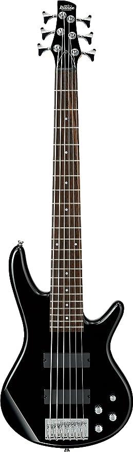 Ibanez gsr206 6 cuerdas Bajo eléctrico, color negro