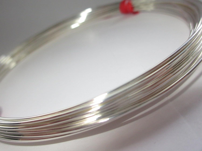 1 Meter 20 Gauge SJ Supplies Sterling Silver 925 Round Wire 0.8mm Half Hard