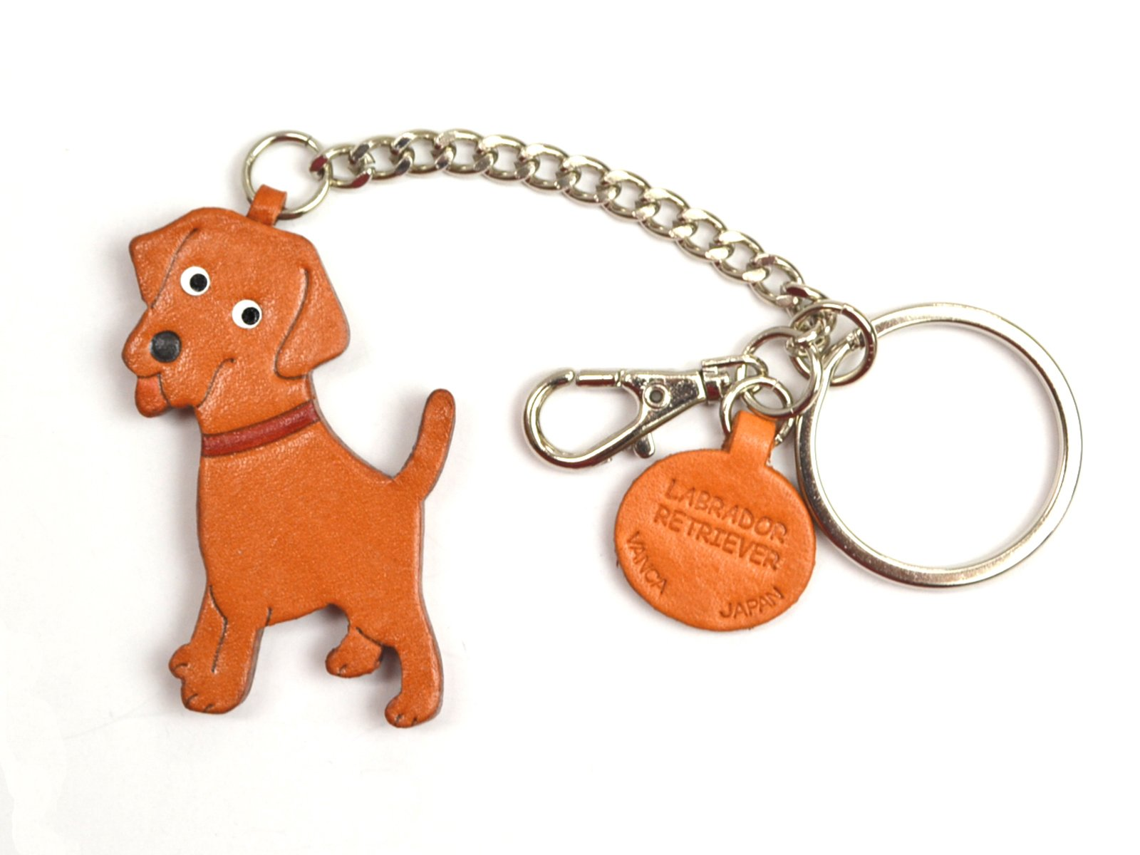Labrador Retriever Leather Dog Bag/Key Ring Charm VANCA CRAFT-Collectible Keychain Made in Japan by Vanca.com