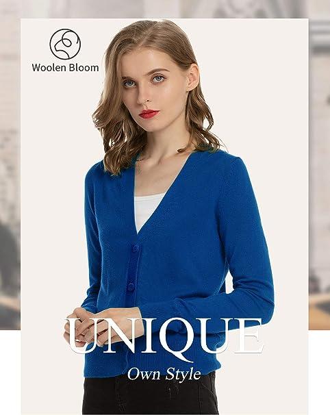 Cardigan Femme Col V Boutonn/é Woolen Bloom Gilet Femme Hiver Tricot/é Gilet Femme Chic L/éger D/écontract/é Outwear Automne Hiver /à la Mode