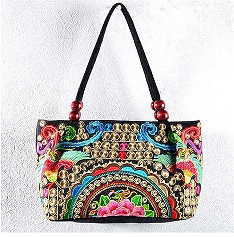 Las mujeres bolso Vintage estilo bordado a mano Monedero ...