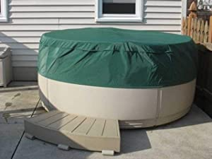 Covermates – Round Hot Tub Cover – 80DIAMETER x 14H – Classic – 12-Gauge Vinyl – Polyester Lining for Extra Stability – Elastic Hem for Secure Fit – 2 YR Warranty – Weather Resistant - Green
