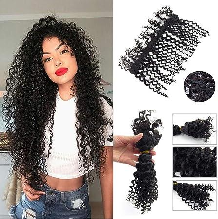 Extensiones de cabello humano sin coser, sin ganchillo, sin ...