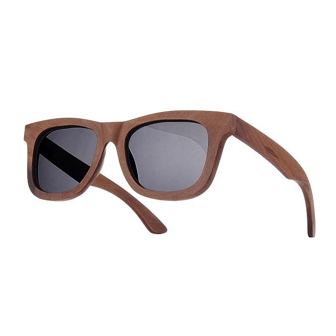 Unisex specchio Uomo Dona Legno Bambù Occhiali Da Sole rispecchiata Sunglass Protezione UV (Legno Scuro) MFAZ Morefaz Ltd 1jJvZYbFS