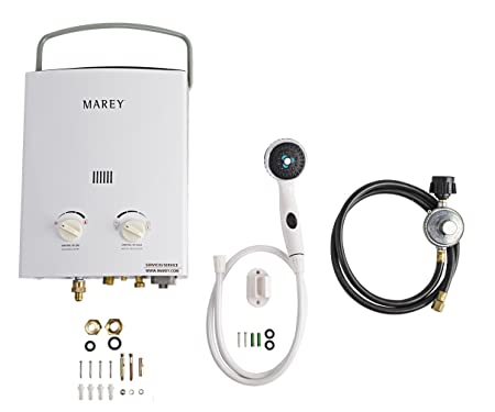 Marey GA5PORT Portable Propane Gas Tankless Water Heater