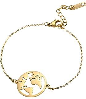 FC JORY White Gold GP CZ Crystal Keys Padlock Locks Links Charms Chain Silver Tone Bracelet
