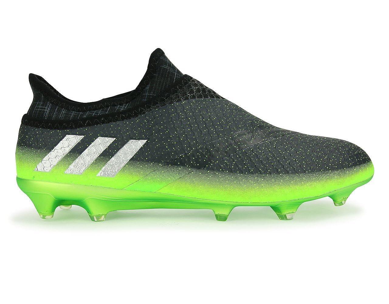 - adidas Men's Messi 16+ PUREAGILITY FG Dark gris argent Metalic Solar vert chaussures - 8.5A