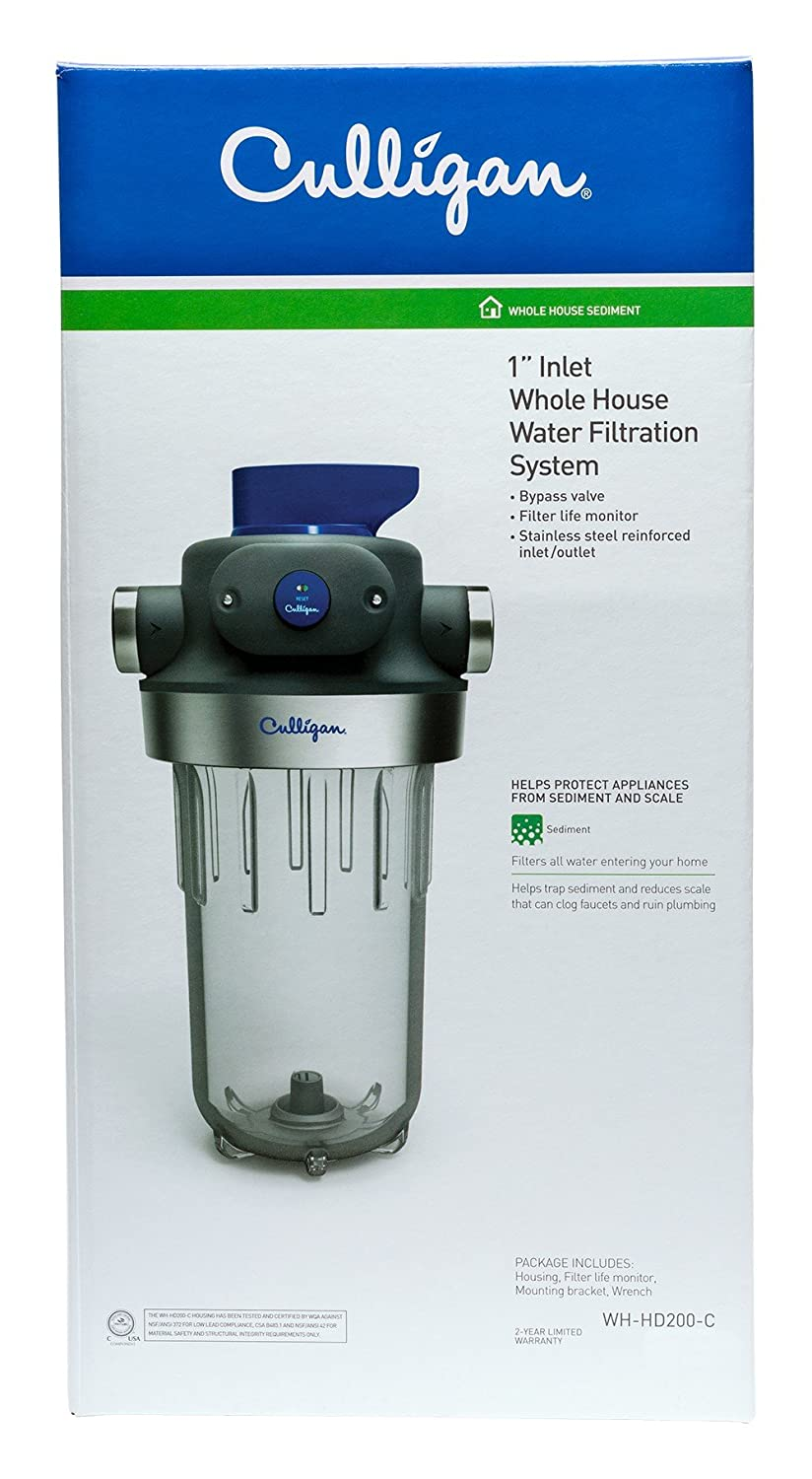 Household Water Filter System Culligan Wh Hd200 C Whole House Heavy Duty 1 Inlet Outlet