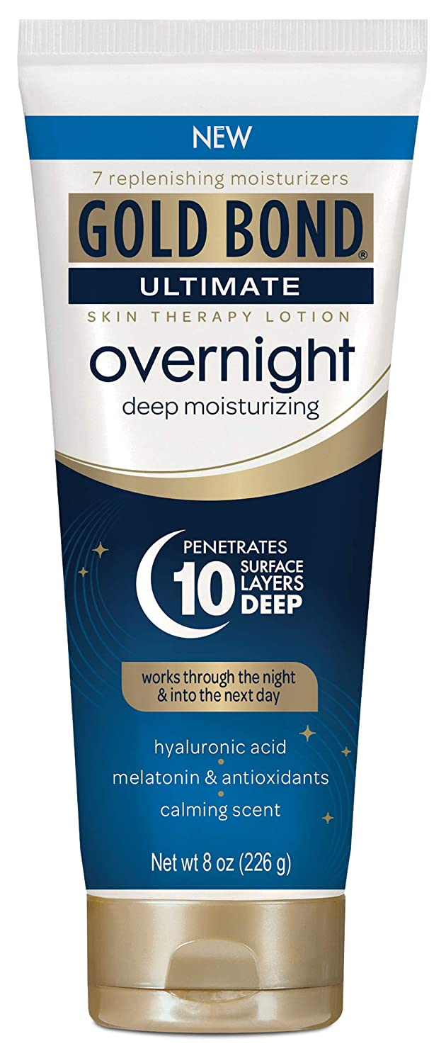 Gold Bond Ultimate Overnight Deep Moisturizing Lotion, 8 Ounce Tube