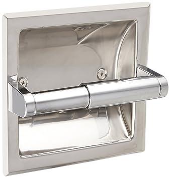 Amazon.com: Moen 2575 Contemporary Recessed Toilet Paper Holder ...