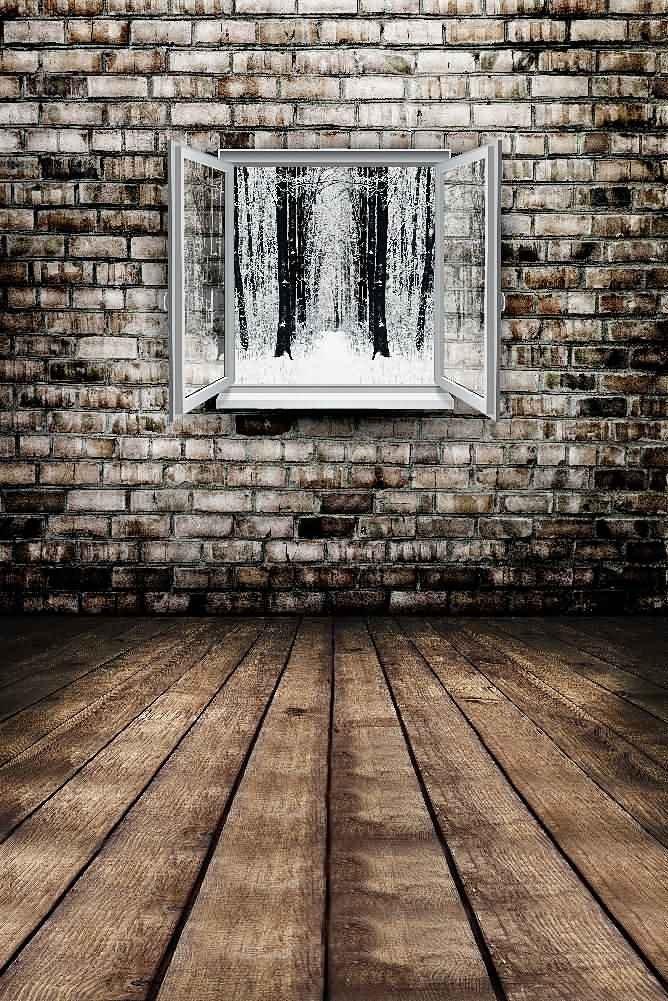 GladsBuy Window And Wall 8' x 12' Digital Printed Photography Backdrop Wall Theme Background YHA-139